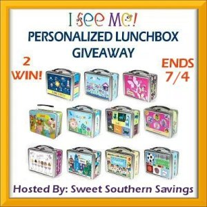 Summer's Here! I See Me Personalized Lunchbox Giveaway Ends 7/4