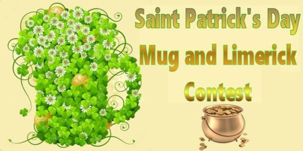 Write a LIMERICK or upload an image of your BEST Saint Patrick's Day Mug by 2/28 if you want to WIN your choice of COFFEE or HOT COCOA