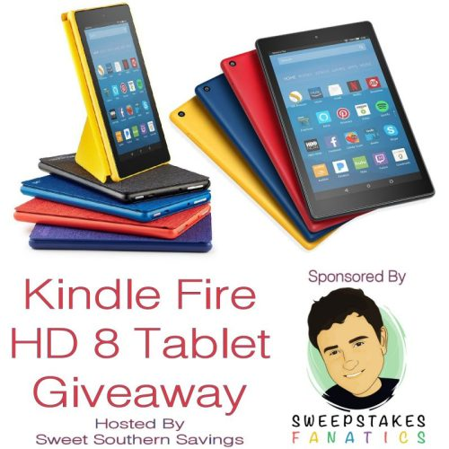 Kindle Fire HD 8 Tablet with Alexa Giveaway