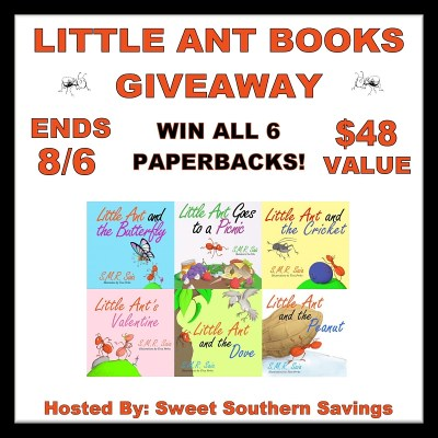 Little Ant Books Giveaway Ends 8/6