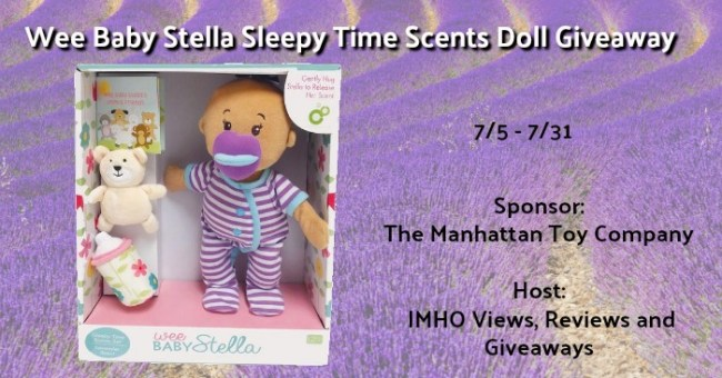 Wee Baby Stella Sleepy Time Scents Doll Giveaway ends 7-31