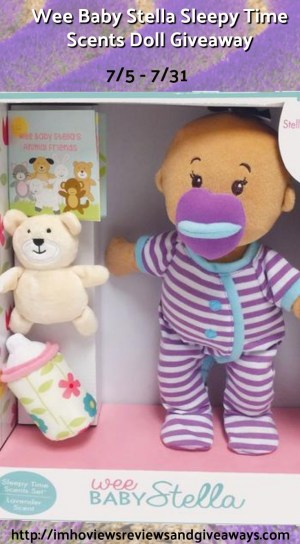 Wee Baby Stella Sleepy Time Scents Doll Giveaways ends 7-31 Pinterest
