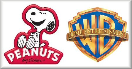 Peanuts by Schultz and Warner Bros Home Ent Logos