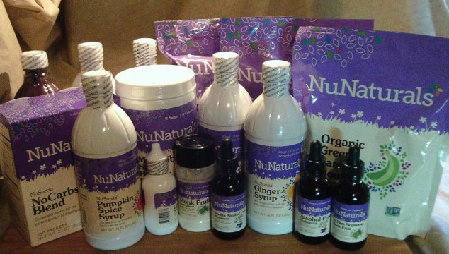 Cooking with NuNaturals SUGAR-FREE ALCOHOL-FREE Sweeteners
