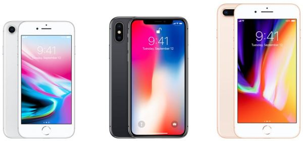 Apple's 3 new iPhones 8, 8 Plus, and X