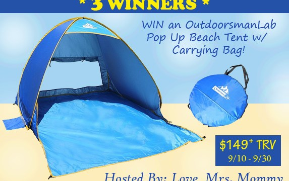 Automatic Pop-Up Beach Tent Giveaway Ends 9/30 – 3 Winners