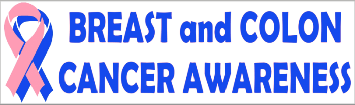 Breast and Colon Cancer Awareness Screening With Ribbons