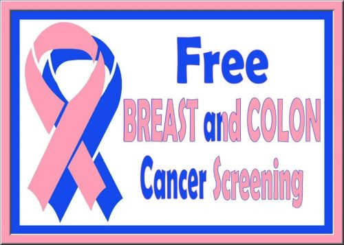 Free Breast and Colon Cancer Awareness Screening With Ribbons