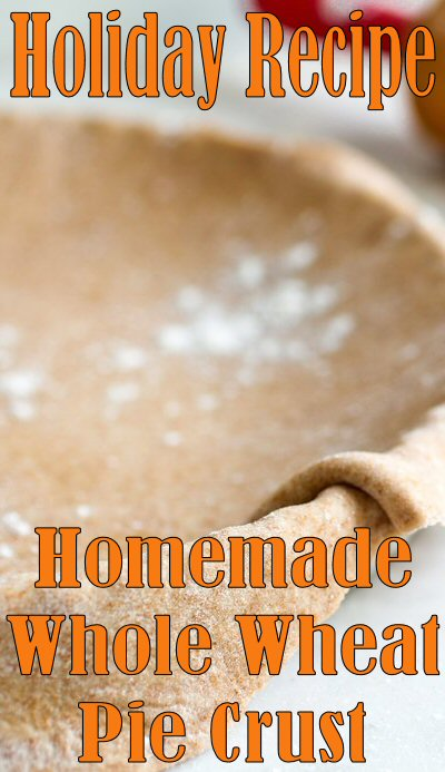 Whole-Wheat #Pie Crust #Recipe - If you're used to eating whole grains, use 100 percent whole-wheat flour or whole-wheat pastry flour (for a more delicate crust). If you're trying to learn to love whole grains, replace all-purpose flour with whole-wheat flour a quarter cup at a time. #Holiday #Baking #Dessert #Food