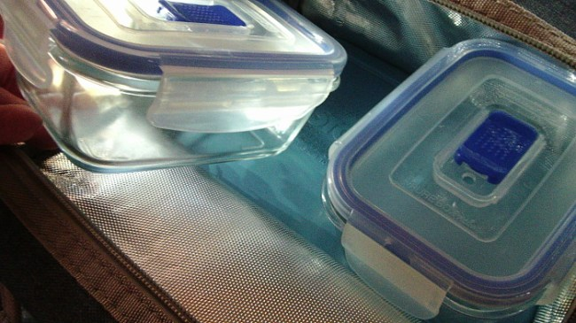 Insulated Lunch Tote Containers Inside
