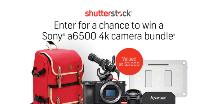 Shutterstock Fall Giveway Sony a6500 Camera Bundle