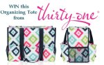 Win this Zip-Top Organizing Utility Tote from Thirty-One Gifts