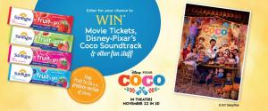 10 WIN SunRype & Disney●Pixar's Coco Prize Packages – Ends 11/24/17