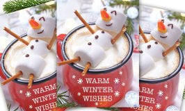These Cocoa Snowman Holiday Cards Send Warm Winter Wishes To Everyone