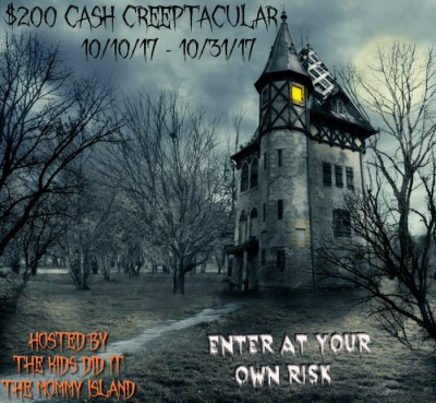 Creeptacular $200 Cash Giveaway Trick or Treat!