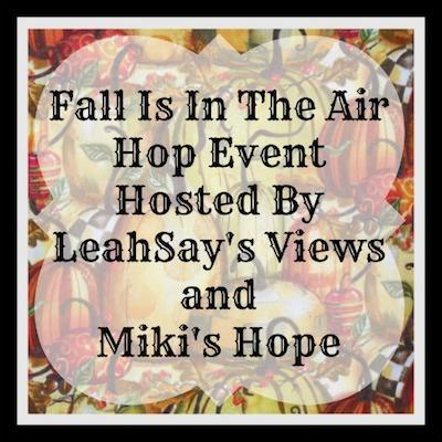 Fall Is In The Air Fall Hop Button - Fall Flavors Giveaway