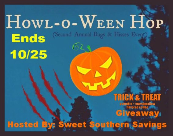Howl-O-Ween Hop Trick and Treat Coffee Giveaway Button
