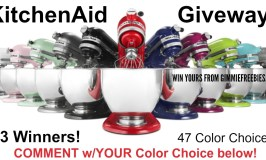 3 WIN KitchenAid Artisan Series Stand Mixer Giveaway – Enter by 12/9/17