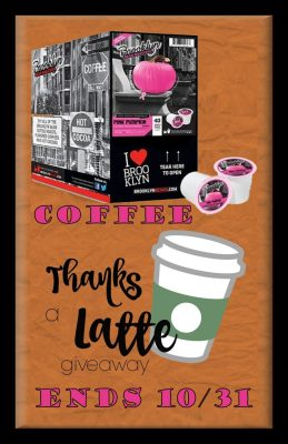 Pink Pumpkin Coffee Giveaway Thanks a Latte Hop Tall