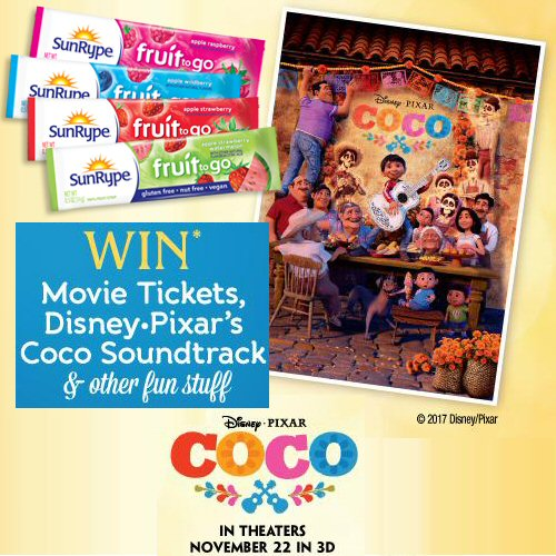 SunRype Family Sweepstakes Coco Prize Package