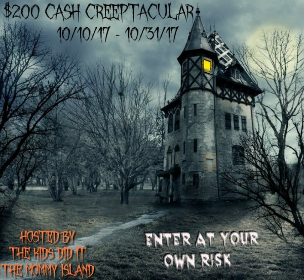 Creeptacular $200 Cash Giveaway! Winner chooses between $200 PayPal Cash OR an E-Gift Card of choice!