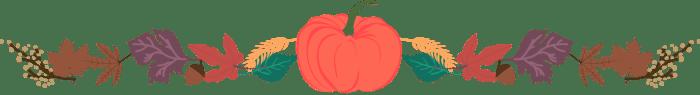 Pink Pumpkin Coffee Giveaway Leaves Divider