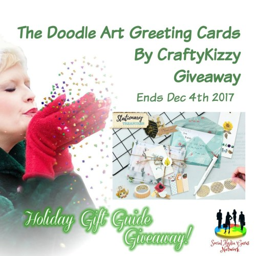 HOLIDAY GIFT GUIDE - Doodle Art Greetings Cards by CraftyKizzy Giveaway