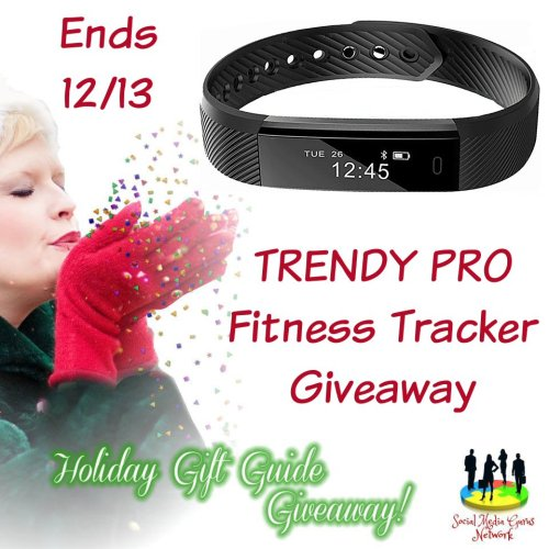 HOLIDAY GIFT GUIDE GIVEAWAY - TRENDY PRO Fitness Tracker Giveaway