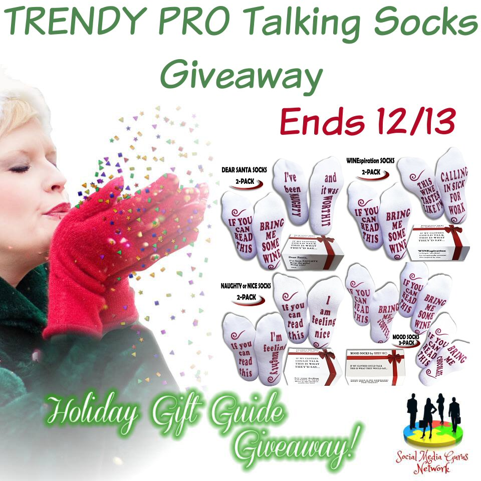 HOLIDAY GIFT GUIDE GIVEAWAY - Trendy Pro Talking Socks Giveaway