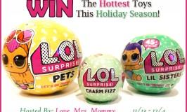 L.O.L. Surprise! Pets, Lil Sisters & Charm Fizz Prize Pack Giveaway! Ends 12/4/17