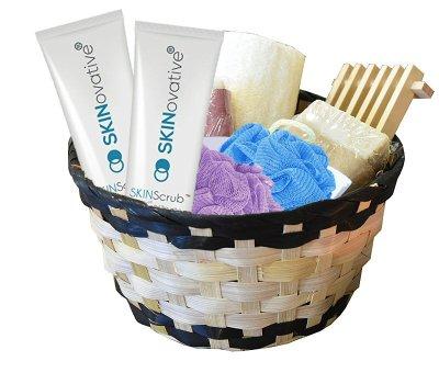 SKINovative Exfoliating Face Scrub Cleanser Gift Basket
