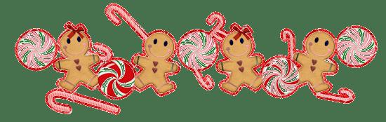 gingerbread man holiday divider