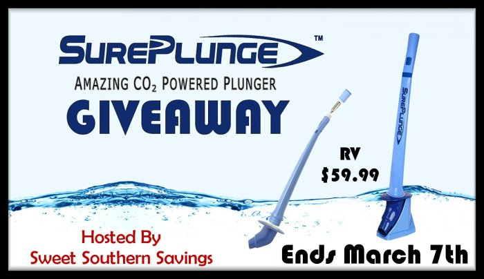 SurePlunge Amazing CO2 Powered Plunger Giveaway