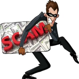 Is It A Scam Learn How To Spot a Scam - Theft With Scam Sign