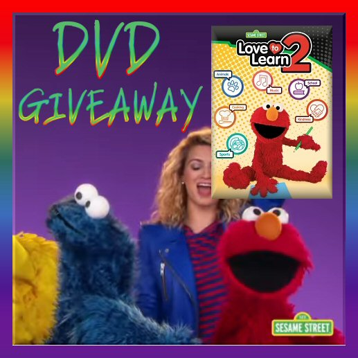 Sesame Street Elmo Love To Learn 2 DVD GIVEAWAY
