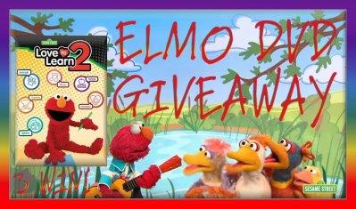 Sesame Street Elmo LoveToLearn 2 DVD GIVEAWAY