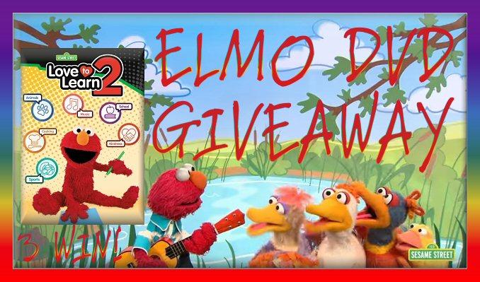 Sesame Street Elmo Love To Learn 2 DVD GIVEAWAY