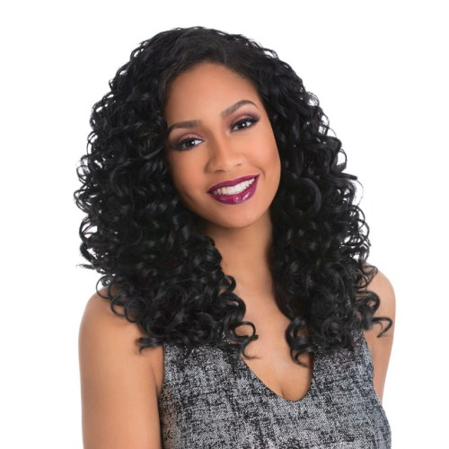 Black Hairspray - Sensationnel Synthetic Custom Fit Instant Weave Half Wig – Onyx