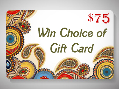 Win $75 USD Gift Card or PayPal Cash Worldwide Giveaway Ends 6/5