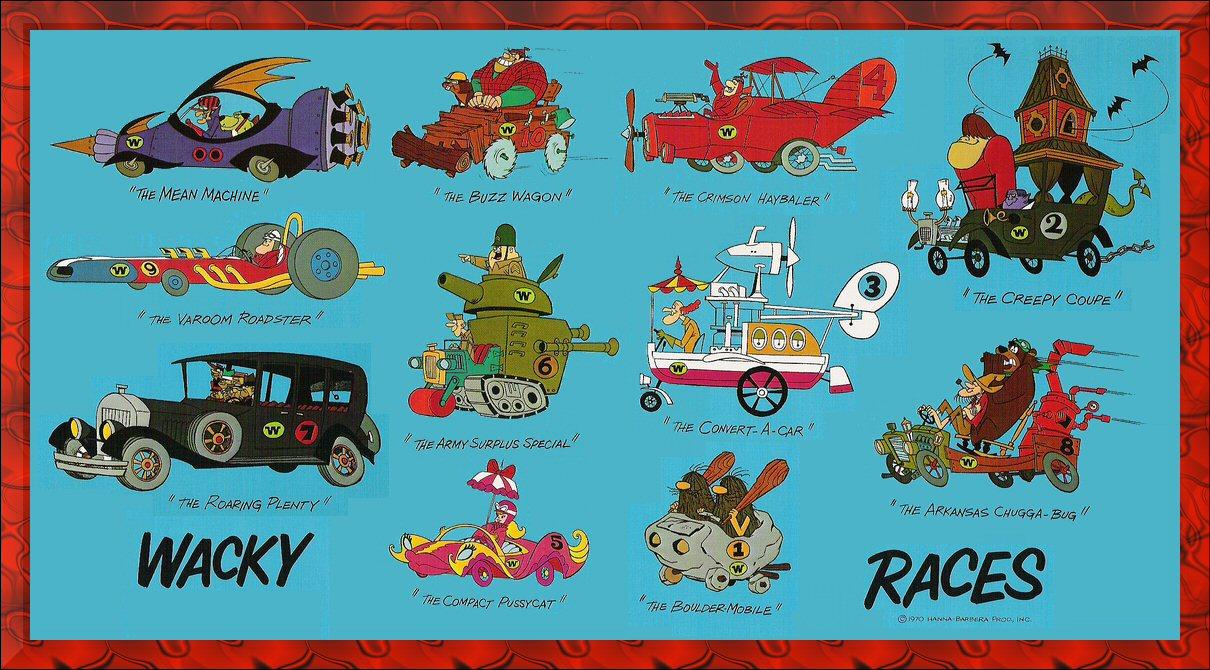 Wacky Races | cartoons | Pinterest  |Wacky Racers Cartoon