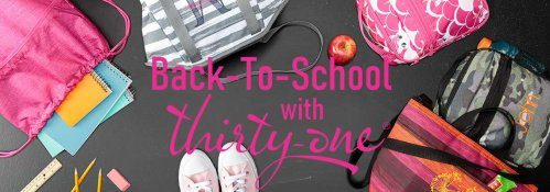 SIX winners receive one Thirty-One Gifts prize each when this Thirty One Gifts Goes Back To School Giveaway Ends 8/31.