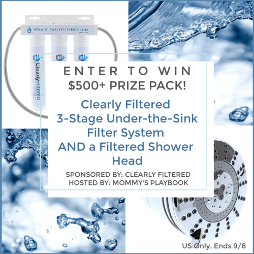 Clean Water Clearly Filtered Shower Head AND 3-Stage Under-the-Sink Filter System Giveaway $570 RV Ends 9/8