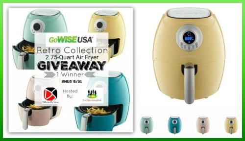 The GoWISE USA Retro Collection Air Fryer Giveaway Ends 8/31