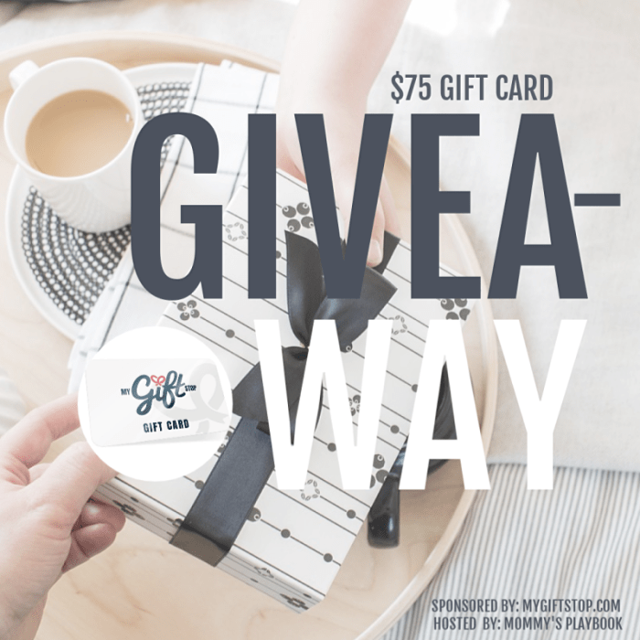 One lucky reader will be able to get a head start on their #holiday #shopping when they win a $75 #Gift Card to My Gift Stop when this #Giveaway ends 9/19