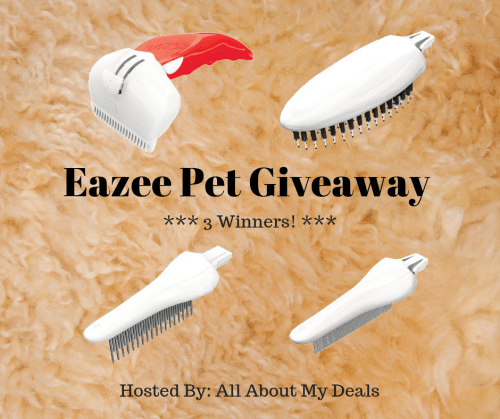 Three #WIN a Prize Package Consisting Of a Deshedder - Duo Bristle Brush - Short/Long Comb - Dust and Flea Comb ~ ARV: $74 When This #Pet #Giveaway Ends 9/30