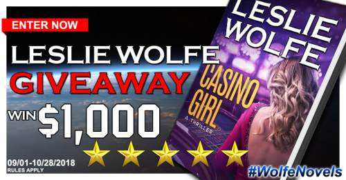 Sweet Southern Savings is hosting today's blog tour stop for Leslie Wolfe'Casino Girl Book Tour.Stop by for more about this book, the author, and a tour-wide giveaway! #Win #Winit #Winning #Sweeps #Sweepstake #Sweepstakes #Contest #ContestAlert #Competition #Giveaway #GiveawayAlert #Prize #Amazon #BookTour #Book #Read