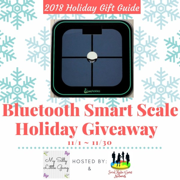 Enter Today If You Want To Be The Lucky Reader Who Will Receive an ONEDEKKO Bluetooth Smart Scale To Put Under The #Christmas Tree When This #Holiday #Gift Guide #Giveaway Ends 11/30. #SMGN #GiftGuide #Win #Winit #Sweeps #ContestAlert #GiveawayAlert #Prize #Free