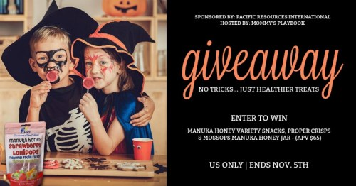 Win a Manuka Honey Snacks, Treats, & Honey Prize Package! Giveaway ends 11/5