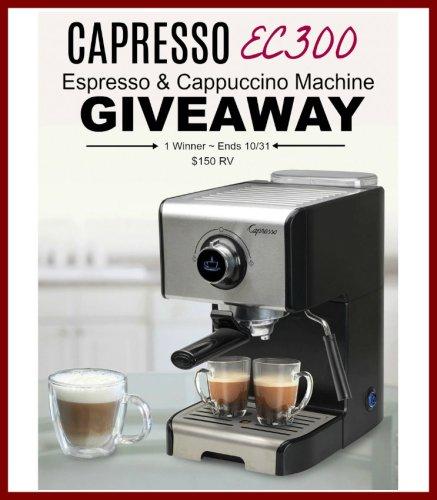 Capresso EC300 Espresso & Cappuccino Machine Giveaway Ends 10/31