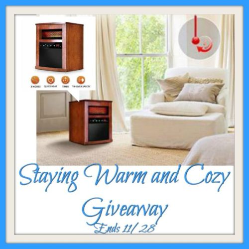 Win a Portable Infrared Heater When This Staying Warm and Cozy Giveaway Ends 11/28